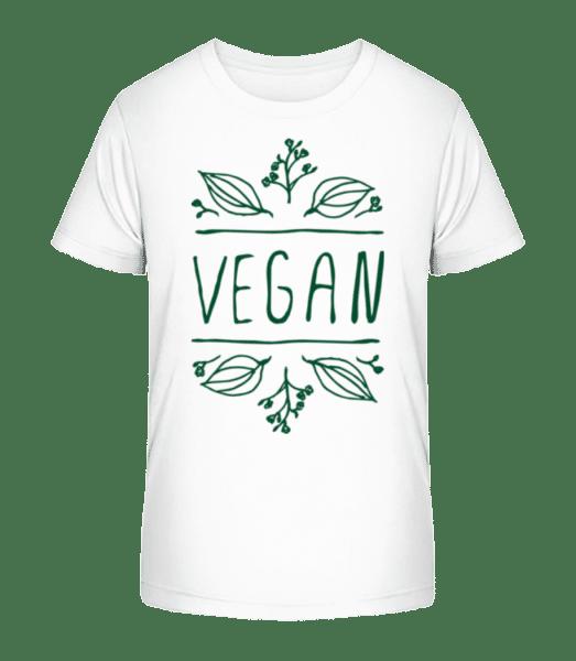 Vegan Sign - Kid's Premium Bio T-Shirt - White - Vorn