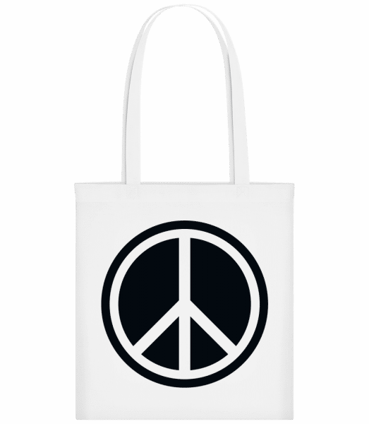 Peace Symbol - Carrier Bag - White - Vorn
