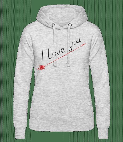 I Love You - Women's hoodie - Heather grey - Vorn