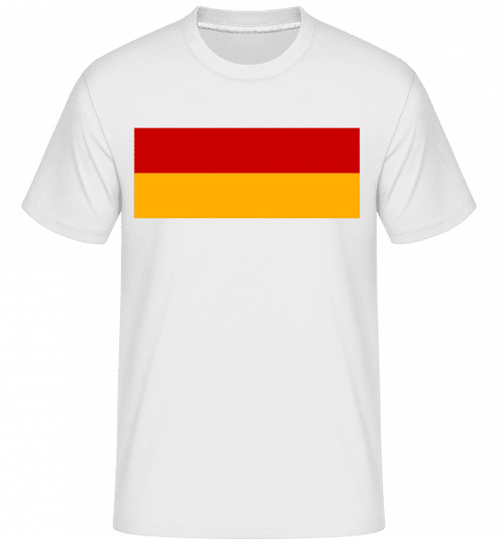 Deutschland Fahne Ohne Schwarz - Shirtinator Männer T-Shirt - Weiß - Vorn