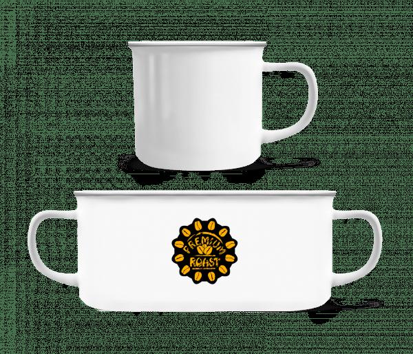 Premium Roast Coffee - Enamel-cup - White - Front