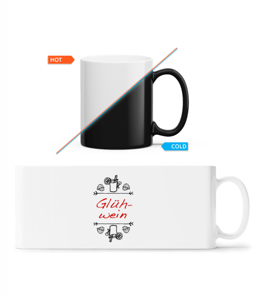 Glühwein Schild - Magic Mug - White - Vorn