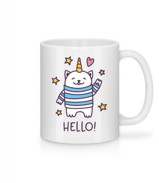 Hello Cat Unicorn - Mug - White - Front