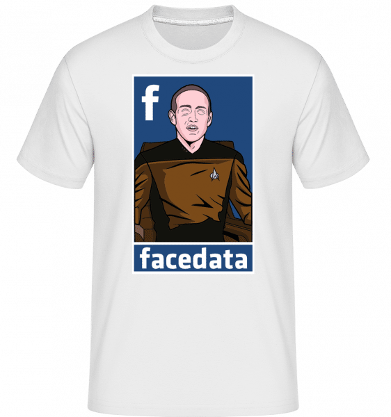 Zuckerberg Data -  Shirtinator Men's T-Shirt - White - Front