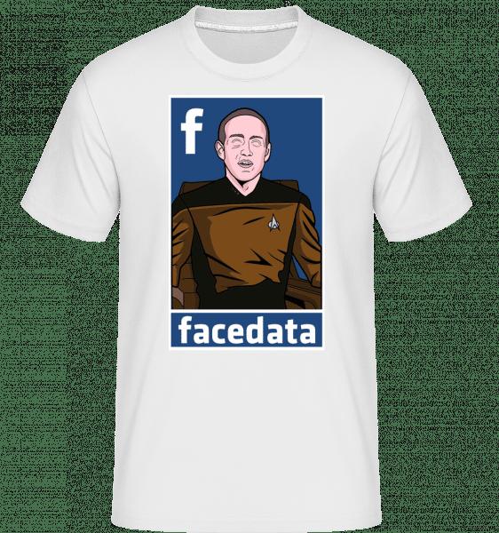 Zuckerberg Data -  Shirtinator Men's T-Shirt - White - Vorn