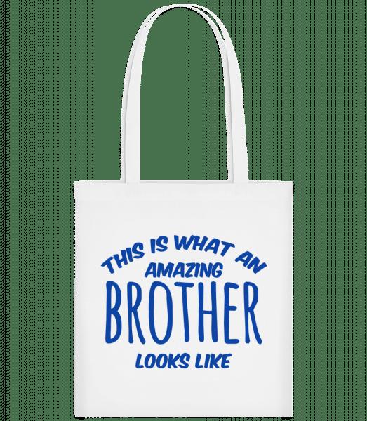 Amazing Brother Looks Like - Taška Carrier - Biela - Predné