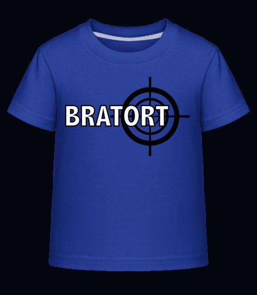 Bratort - Kinder Shirtinator T-Shirt - Royalblau - Vorn