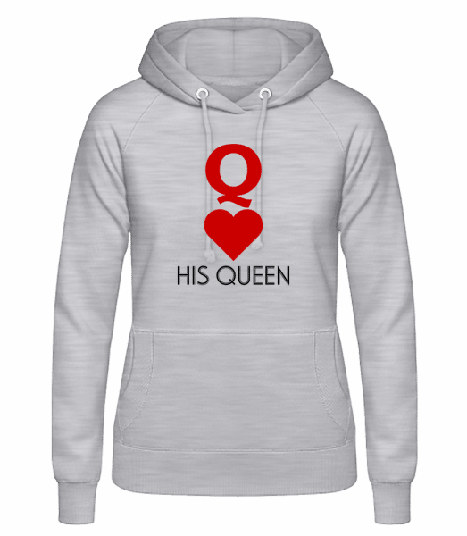 His Queen - Women's Hoodie - Heather grey - Vorn