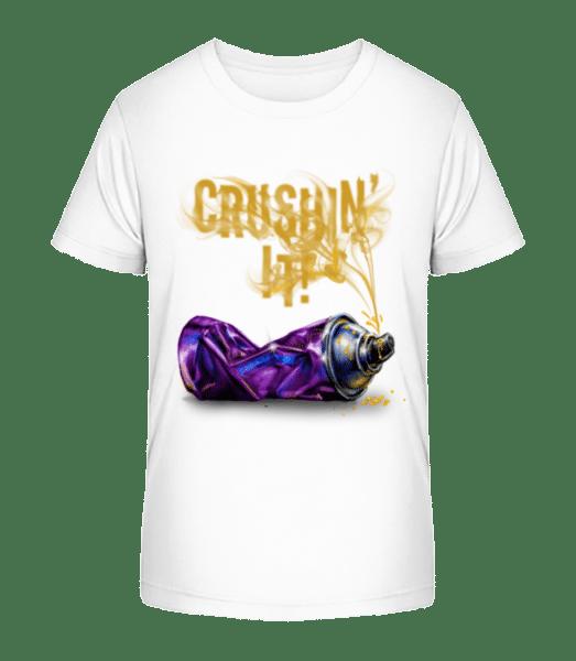 Crushing It - Kid's Premium Bio T-Shirt - White - Vorn