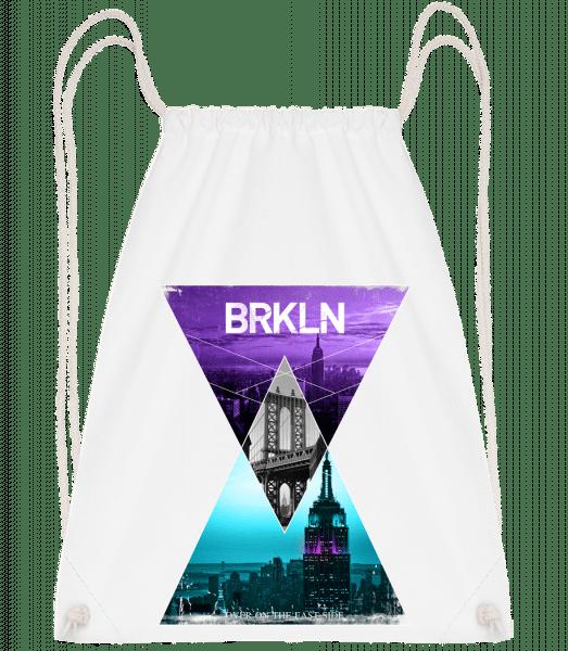 Brooklyn - Drawstring Backpack - White - Vorn