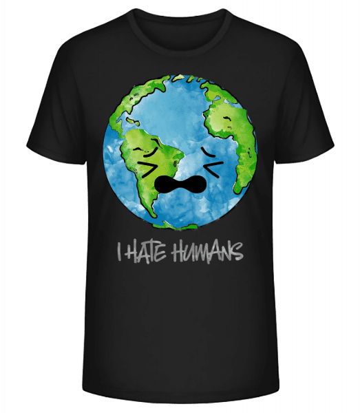 Earth Hates Humans - Men's Premium Organic T-Shirt Stanley Stella - Black - Vorn
