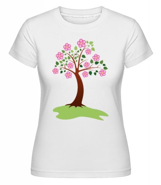 Apple Tree Spring -  Shirtinator Women's T-Shirt - White - Front