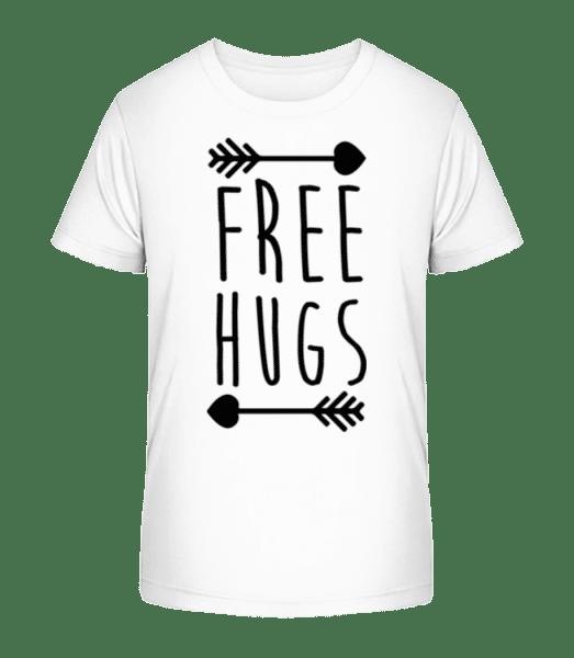 Free Hugs - Kid's Premium Bio T-Shirt - White - Front