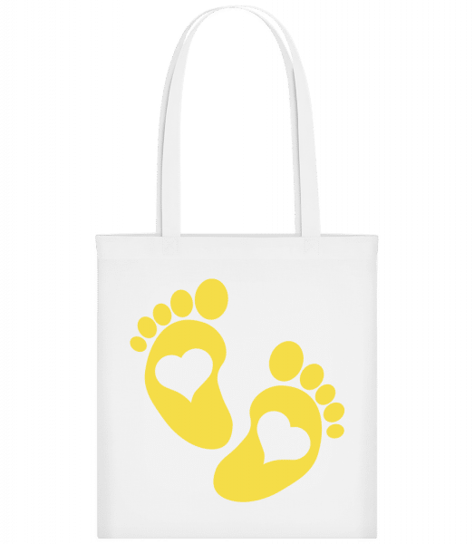 Baby Feet - Carrier Bag - White - Vorn