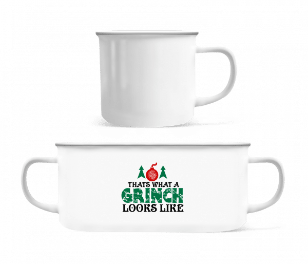 What A Grinch Looks Like - Enamel-cup - White - Vorn