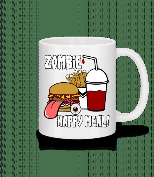 Zombie Happy Meal - Tasse - Weiß - Vorn