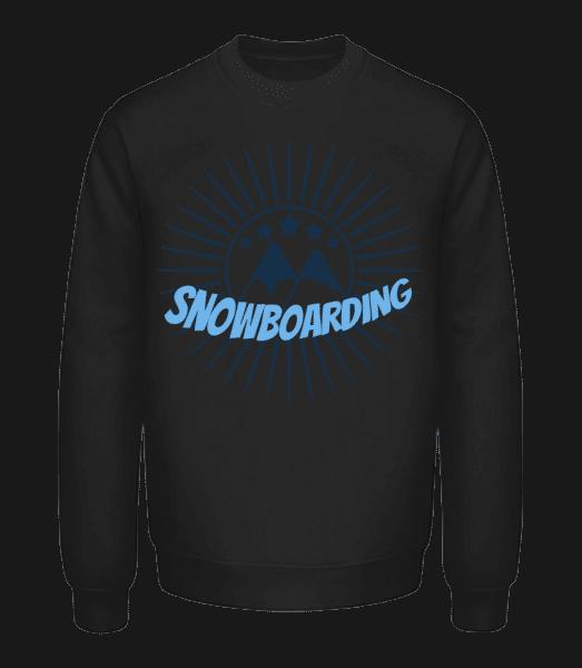Snowboarding Logo - Unisex Sweatshirt - Black - Front