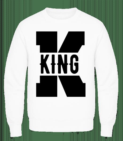 King K - Men's Sweatshirt AWDis - White - Vorn