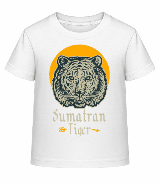 Sumatran Tiger - Kid's Shirtinator T-Shirt - White - Vorn
