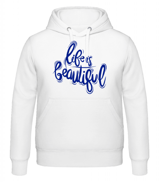 Life Is Beautiful - Sweat à capuche - Blanc - Vorn