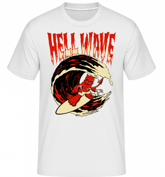 Hell Wave -  Shirtinator Men's T-Shirt - White - Front