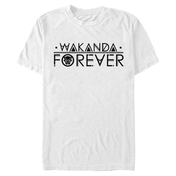 Straight Wakanda - Marvel Avengers - Men's T-Shirt - White - Front