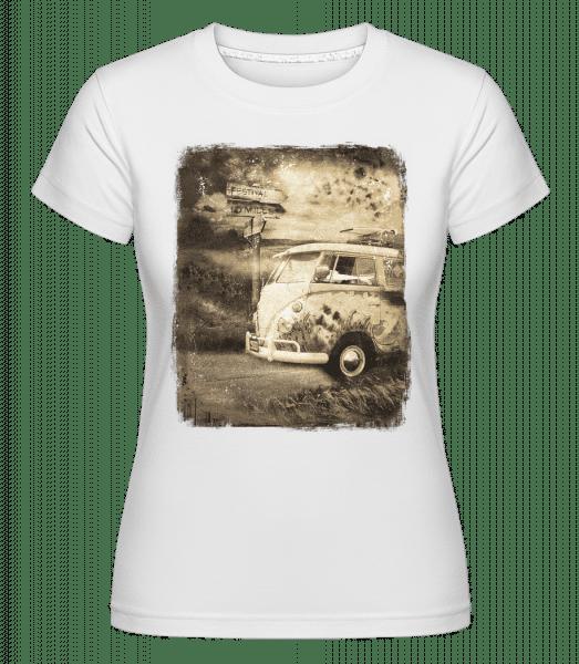 Festival Bus -  Shirtinator Women's T-Shirt - White - Vorn