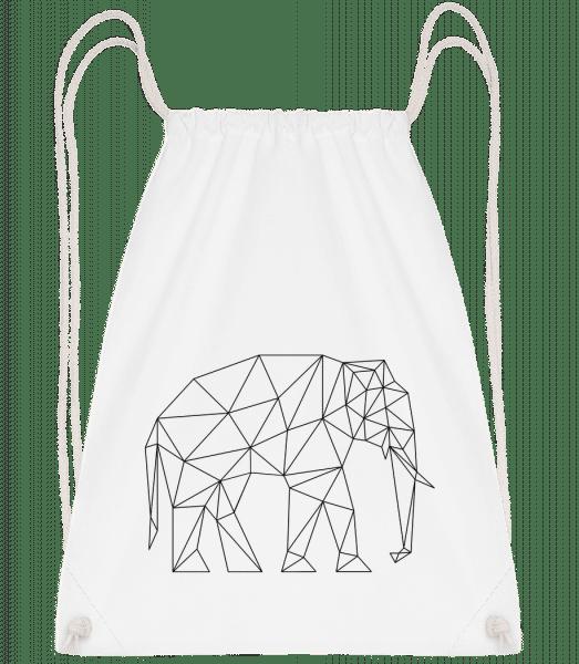 Polygon Elefant - Turnbeutel - Weiß - Vorn