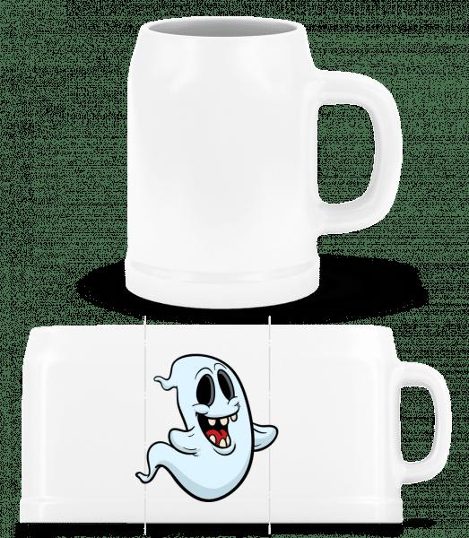 Cartoon Ghost - Beer Mug - White - Vorn