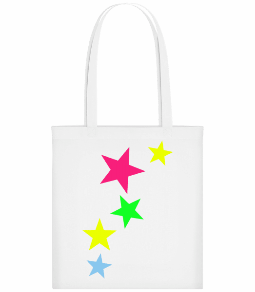 Colorful Stars - Carrier Bag - White - Vorn