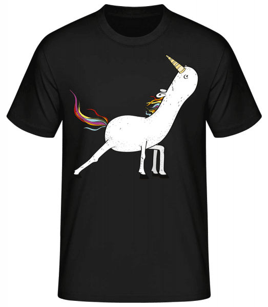 Yoga unicorn stretched - Basic T-Shirt - Black - Vorn