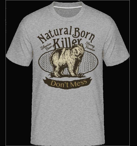 Siberian Bear -  Shirtinator tričko pre pánov - Melírovo šedá - Predné