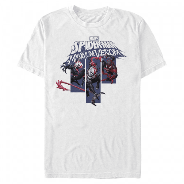 Venom Banners Spider-Man - Marvel - Men's T-Shirt - White - Front