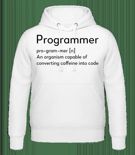 Programmer Definition - Hoodie - White - Vorn