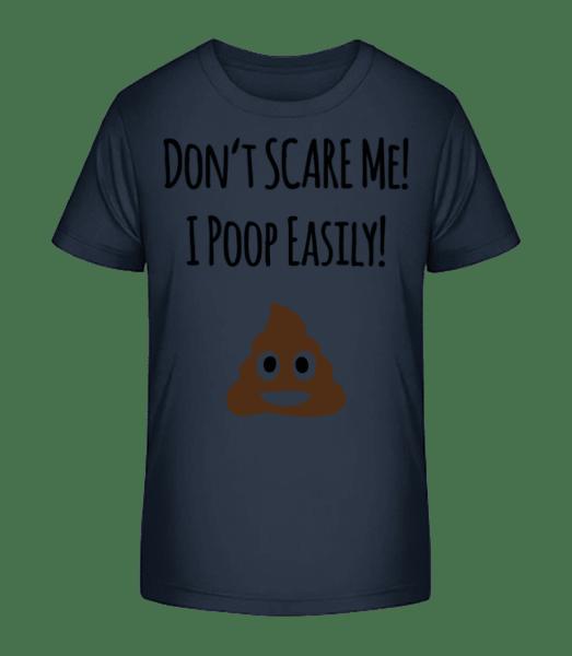 I Poop Easily - Kid's Premium Bio T-Shirt - Navy - Vorn