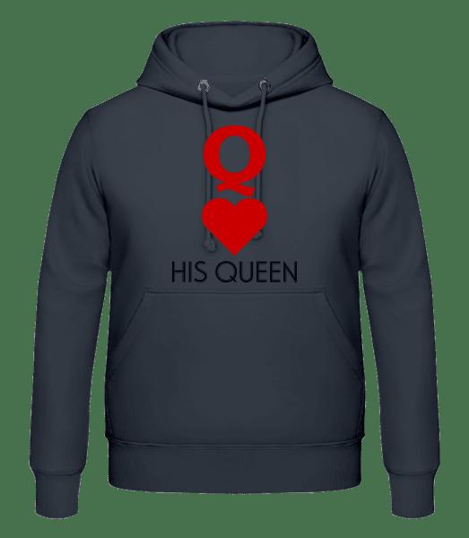 His Queen - Men's Hoodie - Anthracite - Vorn