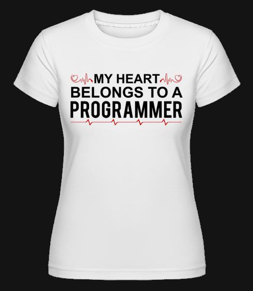 I Love A Programmer -  Shirtinator tričko pro dámy - Bílá - Napřed