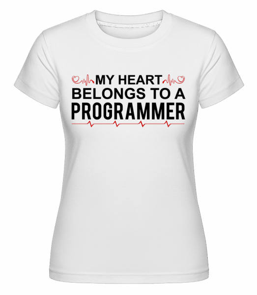 I Love A Programmer -  Shirtinator Women's T-Shirt - White - Vorn