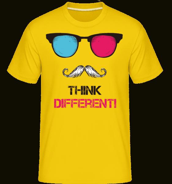 Think Different Hipster -  Shirtinator Men's T-Shirt - Golden yellow - Vorn