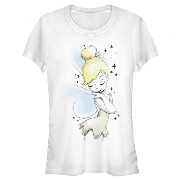 Tink Sketch Tinker Bell - Disney Peter Pan - Women's T-Shirt - White - Front