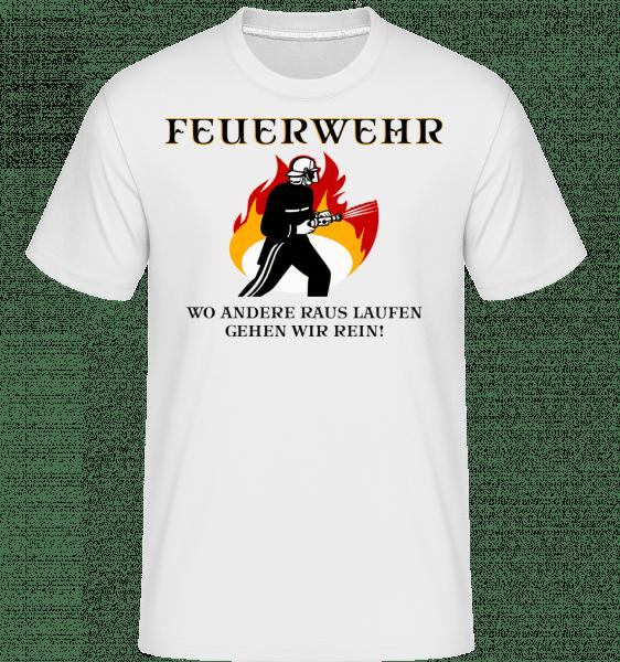 Feuerwehr Motto - Shirtinator Männer T-Shirt - Weiß - Vorn