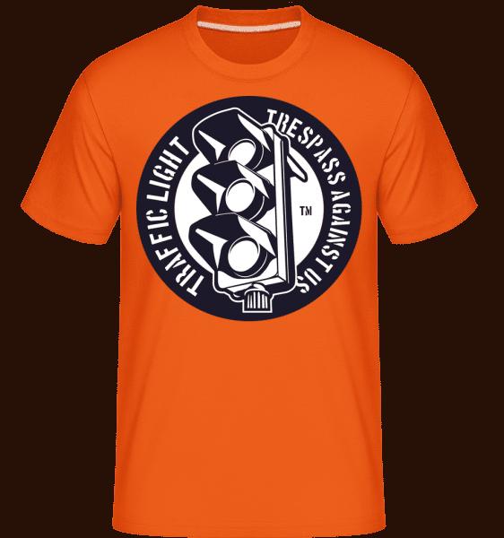 Traffic Light -  Shirtinator Men's T-Shirt - Orange - Front