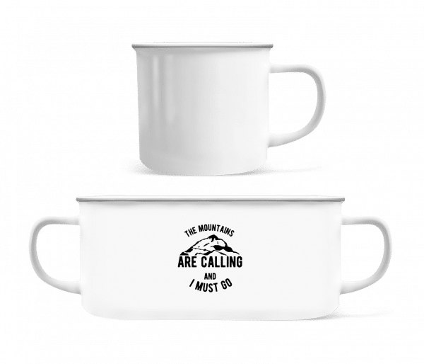 The Mountains Are Calling And I Must Go - Enamel-cup - White - Vorn