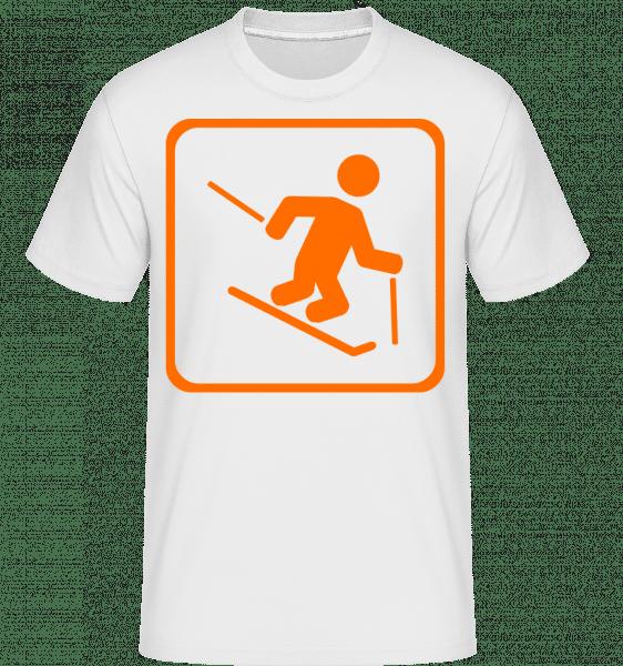 Ski Fahren Schnell Zeichen - Shirtinator Männer T-Shirt - Weiß - Vorn