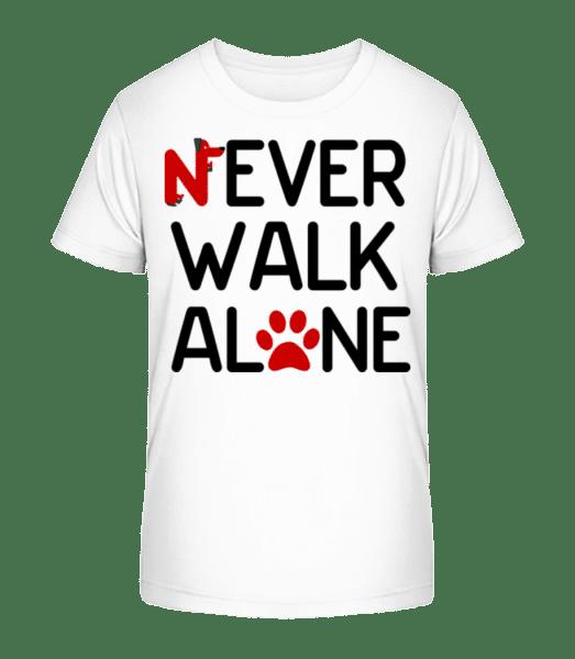 Never Walk Alone - Kid's Premium Bio T-Shirt - White - Vorn
