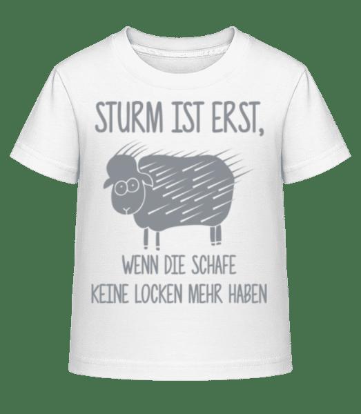 Schafe Ohne Locken - Kinder Shirtinator T-Shirt - Weiß - Vorn
