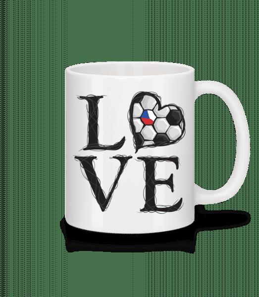Football Love Czech Republic - Mug - White - Vorn