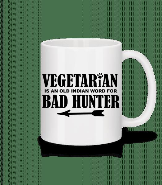Vegetarian Bad Hunter - Tasse - Weiß - Vorn