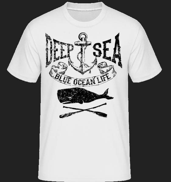 Deep Sea Ocean Icon -  Shirtinator tričko pre pánov - Biela - Predné