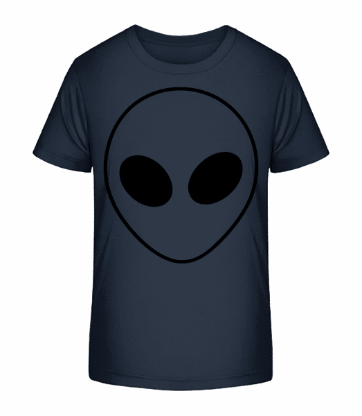 Alien Face - Kid's Premium Bio T-Shirt - Navy - Front